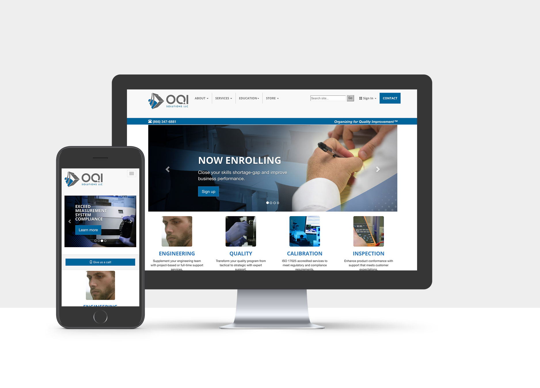OQI Solutions website devices